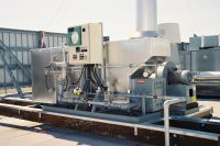 "EDGE GC oxidizers, with the patented ""Graded-Cell"" catalyst are significantly more compact than other conventional VOC abatement systems.  Their light weight and small footprint make them ideal for the crowded rooftops of semiconductor facilities."